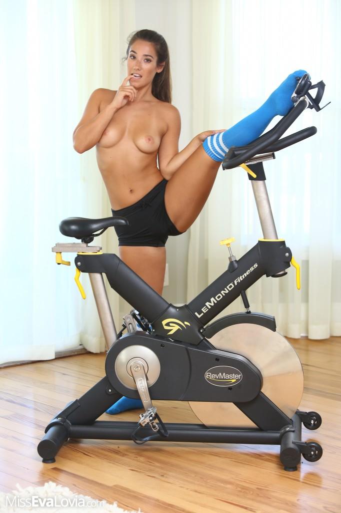 You incorrect Naked on exercise bike theme