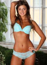 Met-Art: Melena shows off her lingerie