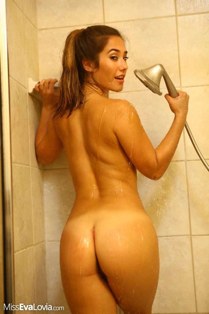 Plus size eva lovia sexy shower naked models all