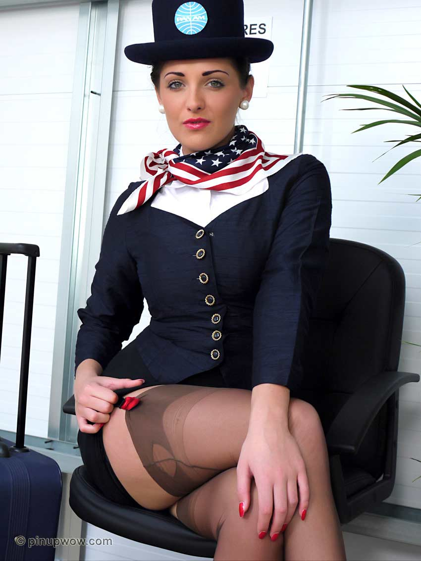 Airline hostess with nice tits - 2 part 6