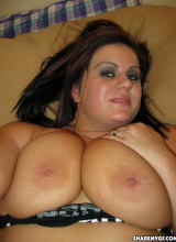 Share My GF: BBW girlfriend shows off her big juicy tits and round plump ass