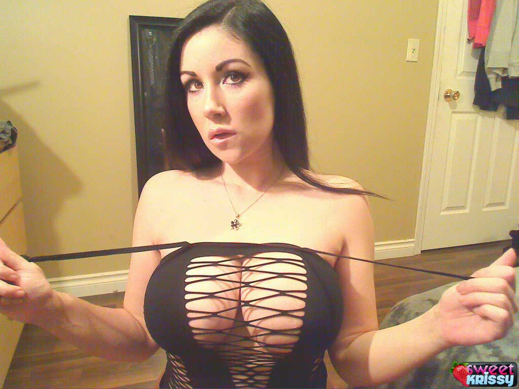 Sweet Krissy Shows Off Her Huge Tits