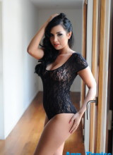 Ann Denise seduces us in her black sheer bodysuit
