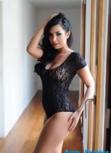 Ann Denise seduces us in her black sheer bodysuit
