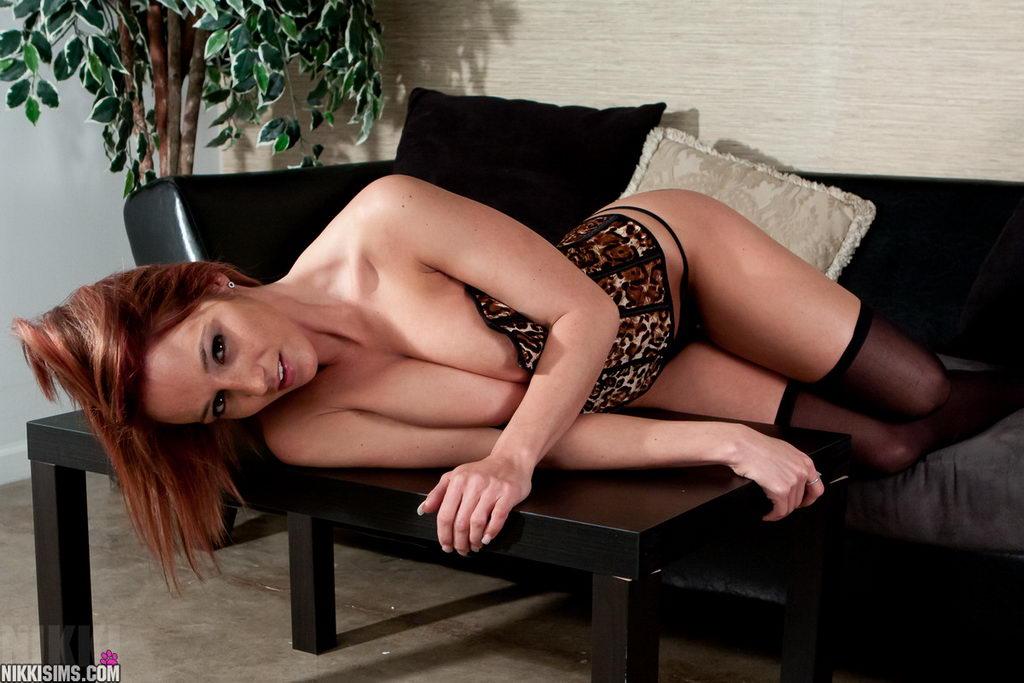 Nikki Sims - Leopard Corset
