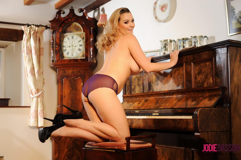 Jodie Gasson Teasing By The Old Upright Piano