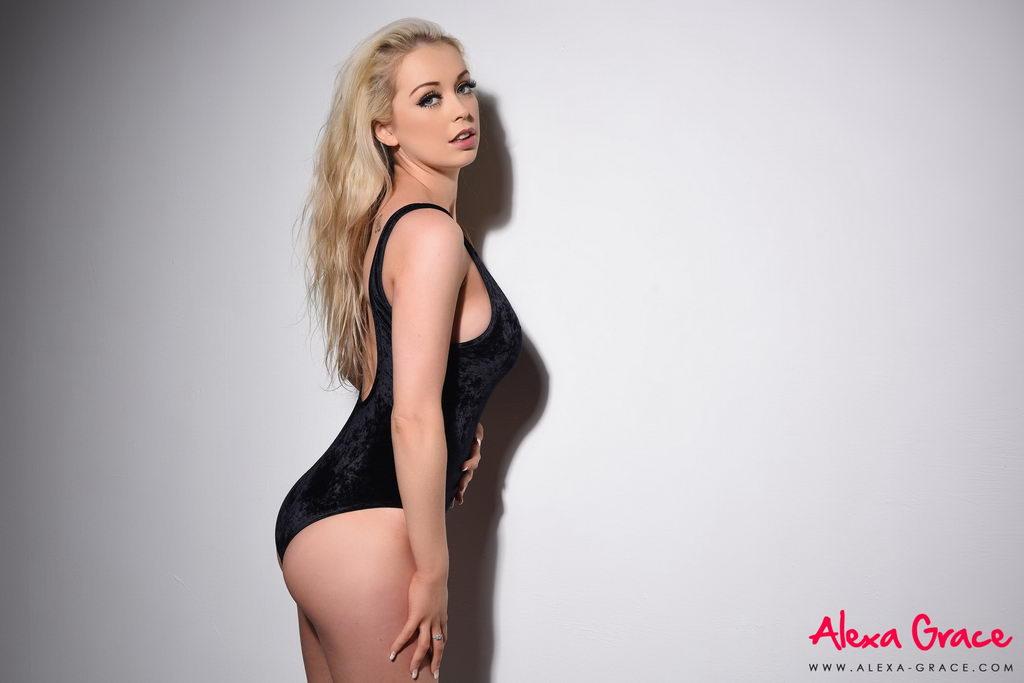 Alexa Grace Teasing In Her Black Bodysuit