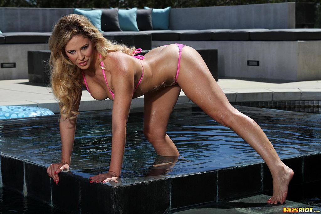 Milf in sheer bikini final, sorry
