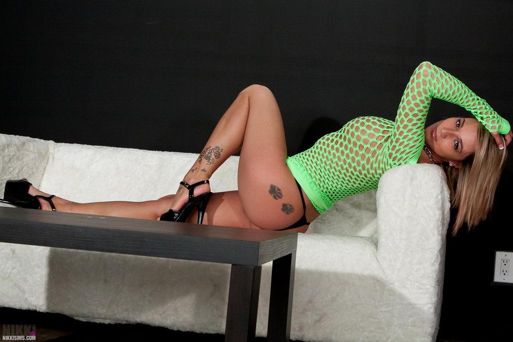 Nikki Sims - Green Mesh