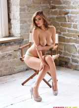 Summer St Claire teasing in the directors chair