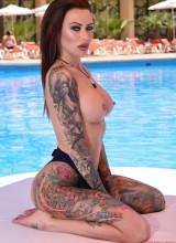 Becky Holt - Tight blue bodysuit