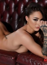 Mica Martinez in her black lingerie and stockings