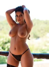 Charley S in black lingerie and stockings