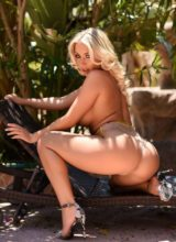 Stacey Robyn teasing in the garden