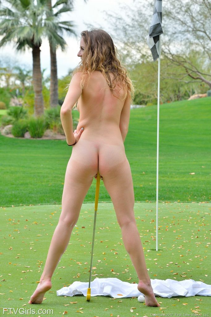 girl with golf club in pussy