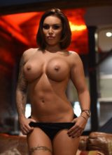 Gemma Massey Strips Nude on the Couch