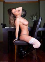 Nikki Sims -Boobs & White Corset