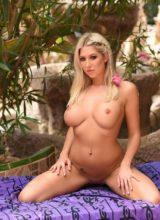 Lexi Lowe Posing in Her Yellow Bikini