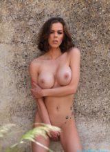 Jennifer Ann Strips Naked Outdoors