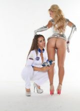 Cherie Deville and Dani Daniels in Ass Planet