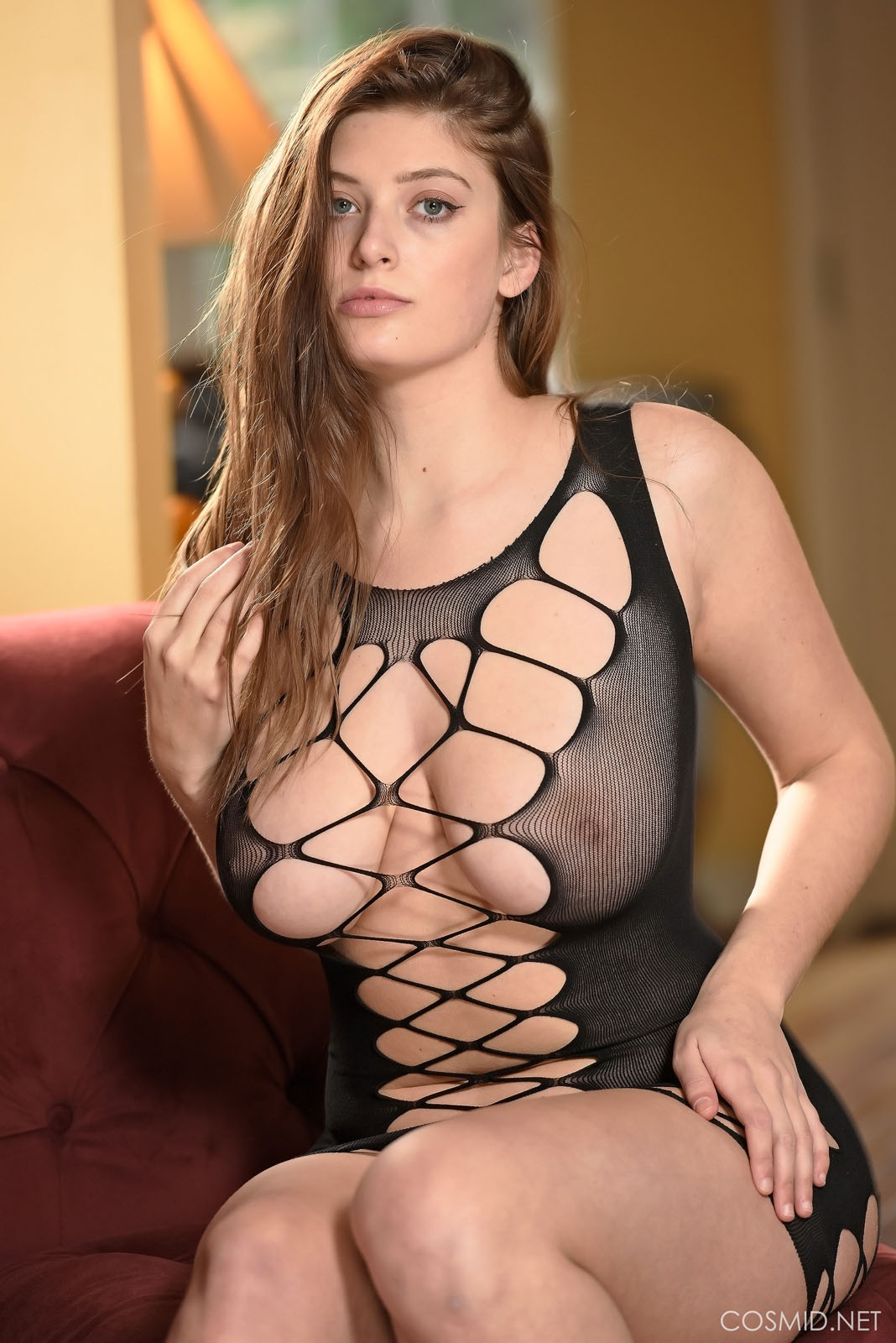 Cosmid Madison Hunt Black Fishnet Dress  Web Starlets-3938