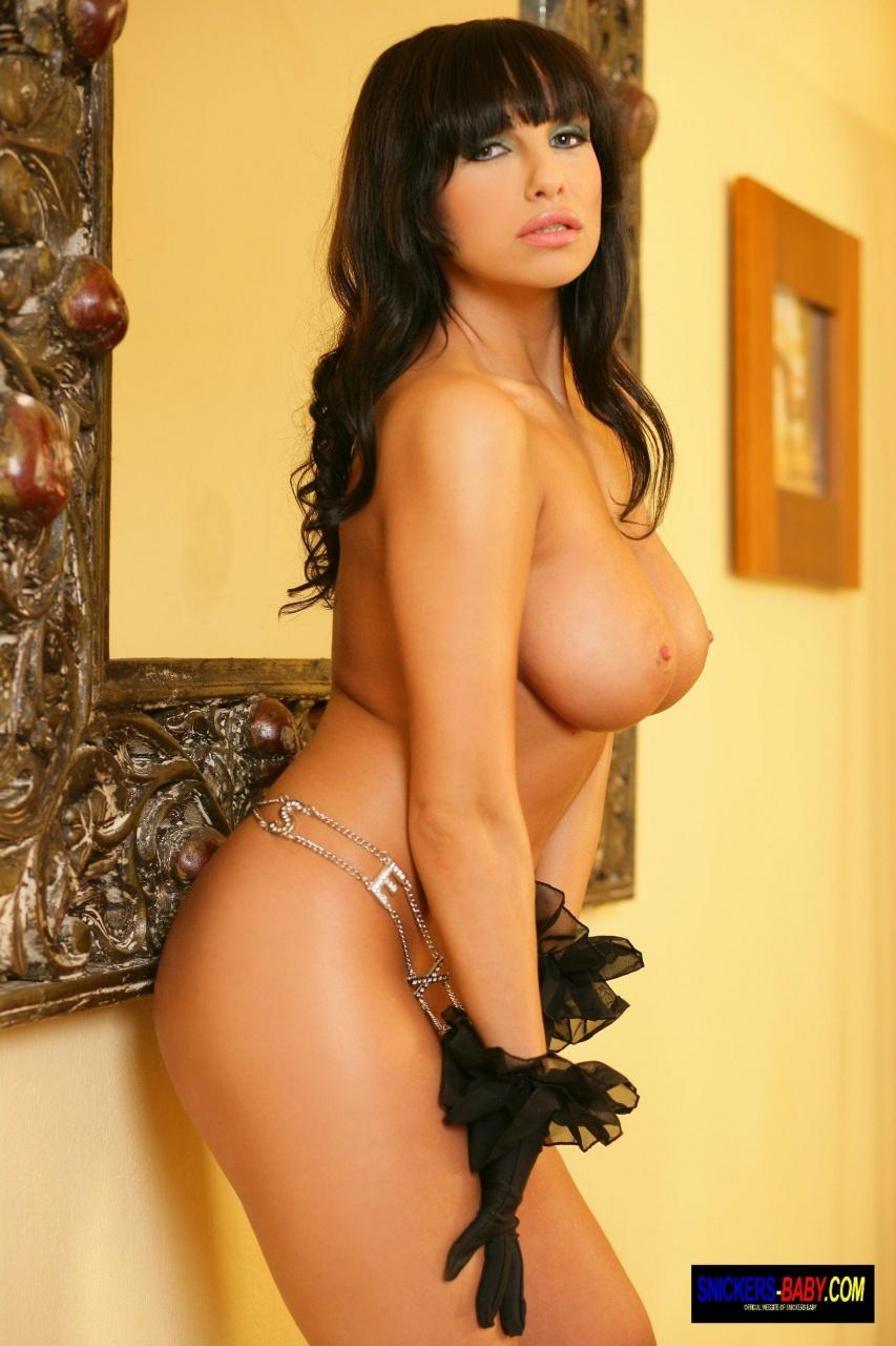 Snickers Baby: Big Tits Brunette - Heels