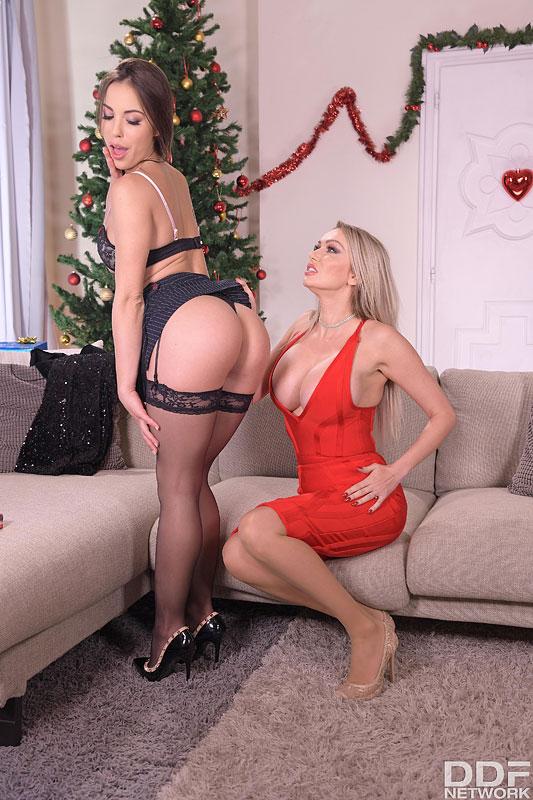 Euro Girls on Girls Anastasia Brokelyn & Amber Jayne - Dildo Play for Lesbian X-mas 4