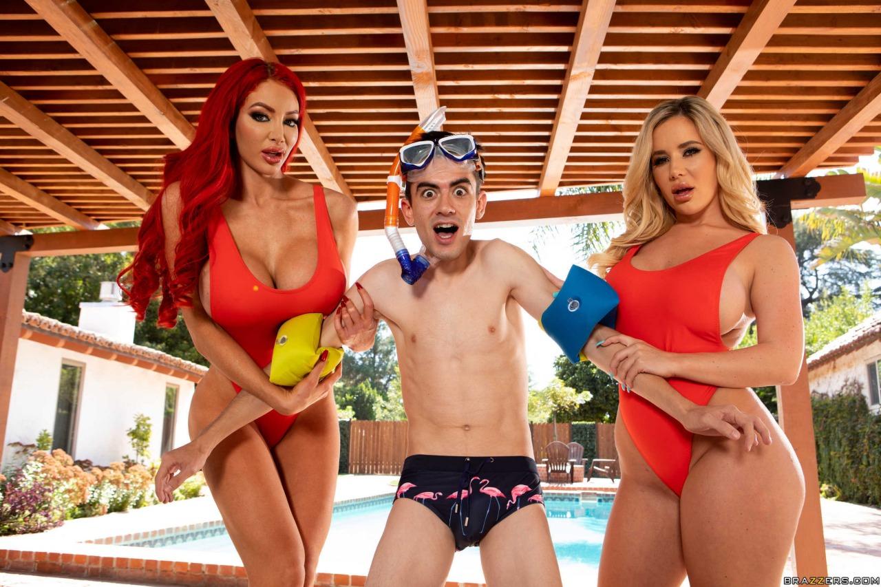 Brazzers Nicolette Shea & Savannah Bond Big Tits Save Lives 9