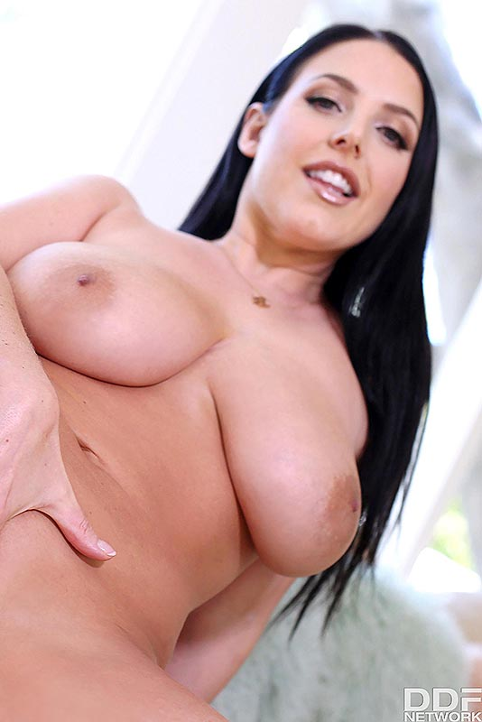 1By-Day Angela White - Sexy Brunette's Daytime Dildo Fun 12