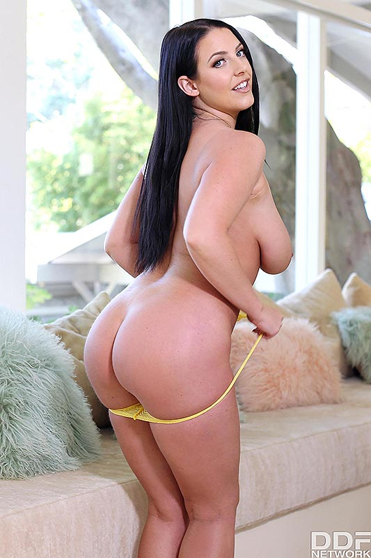 1By-Day Angela White - Sexy Brunette's Daytime Dildo Fun 7