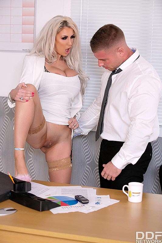 DDF Busty: Brooklyn Blue - Titty Fucking Time at the Office 4