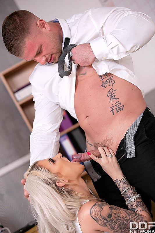 DDF Busty: Brooklyn Blue - Titty Fucking Time at the Office 5