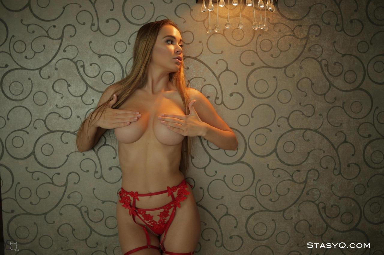 Melissa Q Red Lingerie 18