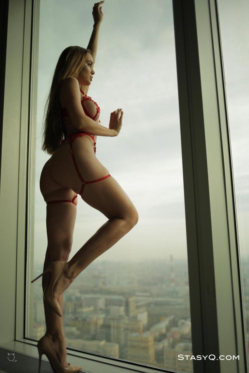 Melissa Q Red Lingerie 5