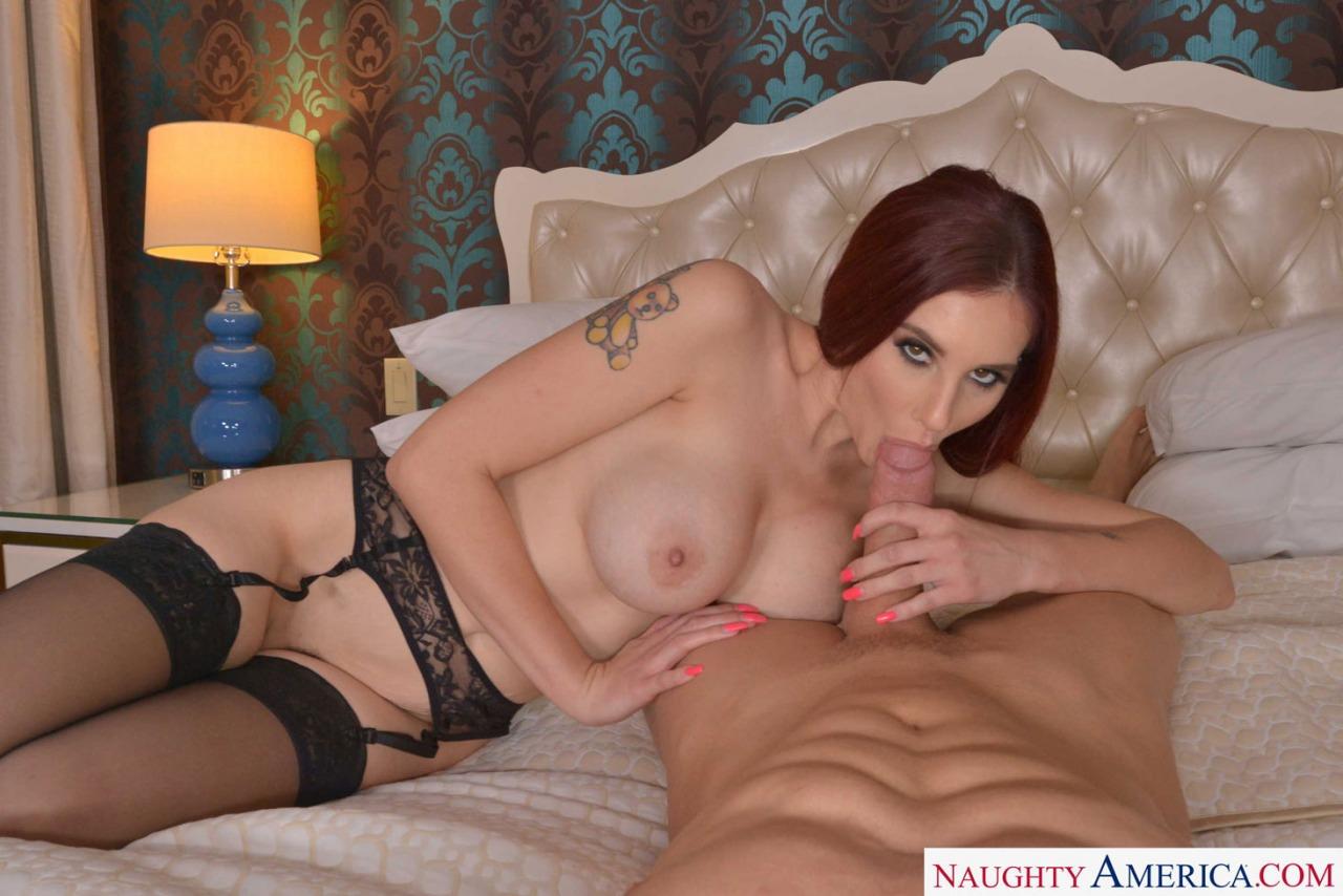 Naughty America - Lilian Stone Pov Stocking Sex 8