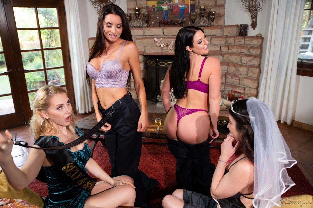 Girlsway - Angela White Lesbian Orgy 3