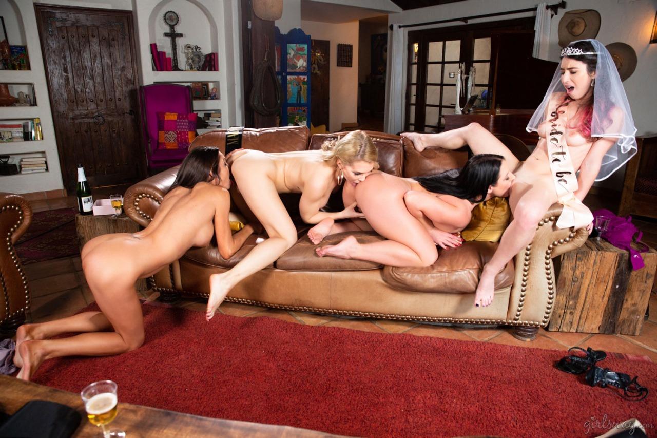Girlsway - Angela White Lesbian Orgy 8
