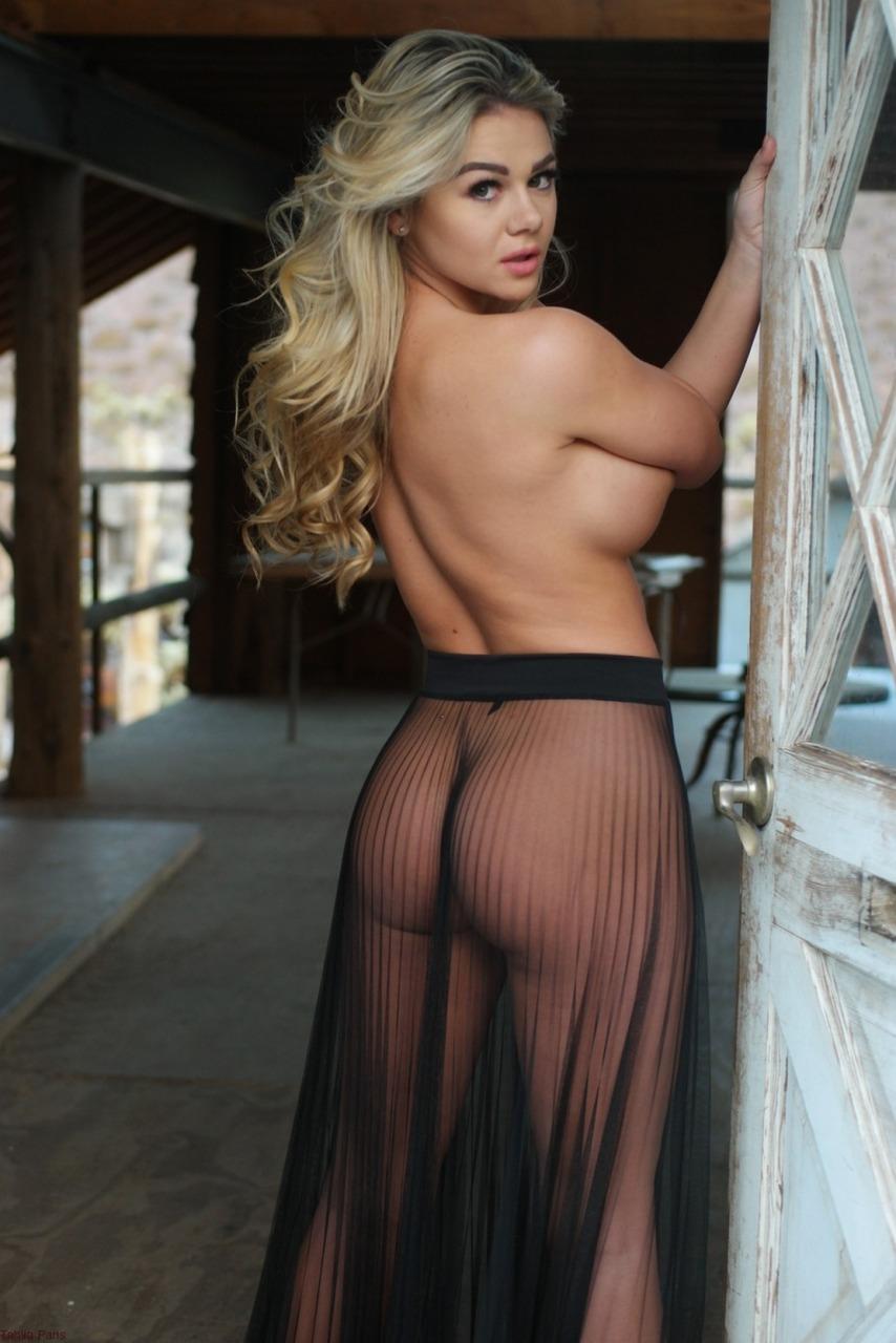 Tahlia Paris - Sheer Skirt Nudes 9