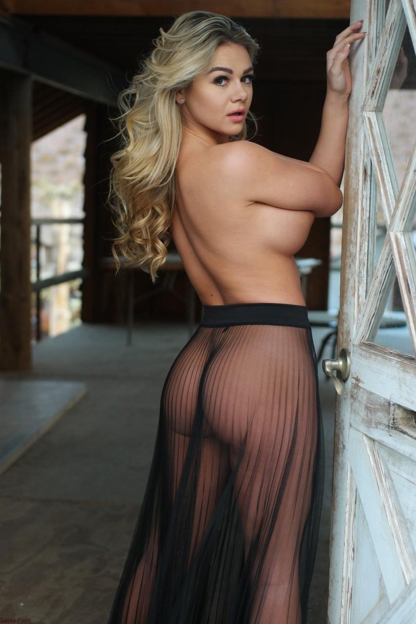 Tahlia Paris - Sheer Skirt Nudes 10