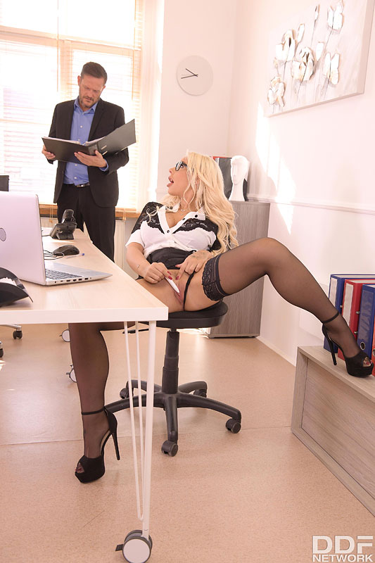 DDF Busty: Kyra Hot - Big Tittied Babe Bent Over And Fucked At Work 4
