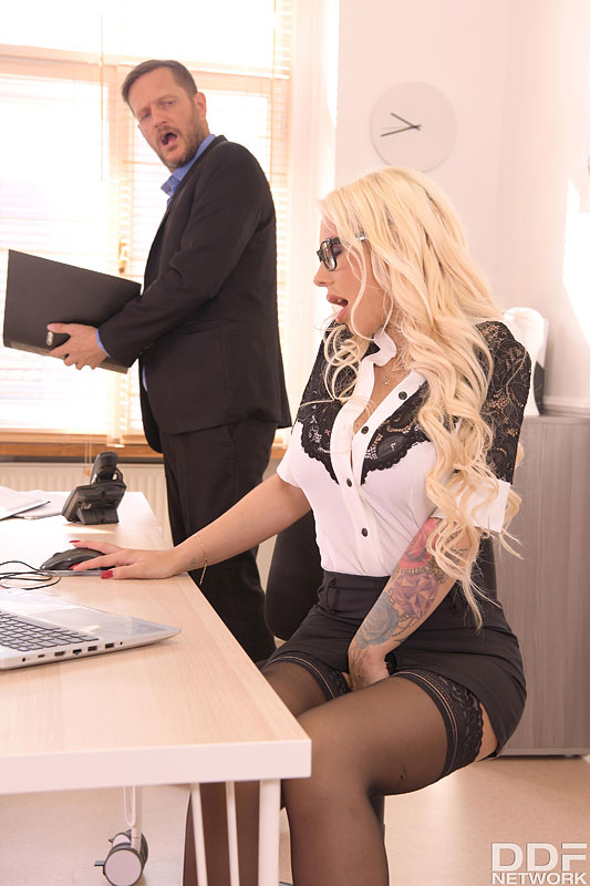 DDF Busty: Kyra Hot - Big Tittied Babe Bent Over And Fucked At Work 5