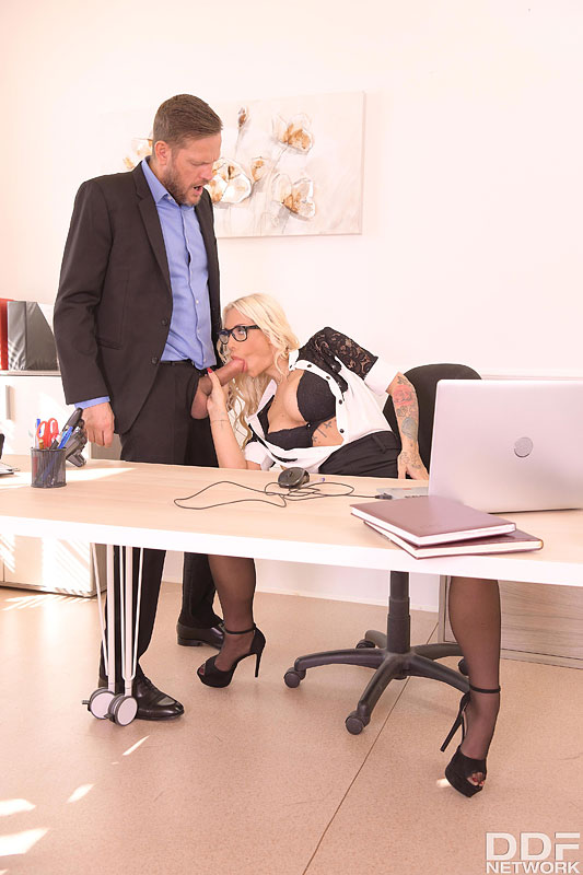 DDF Busty: Kyra Hot - Big Tittied Babe Bent Over And Fucked At Work 7
