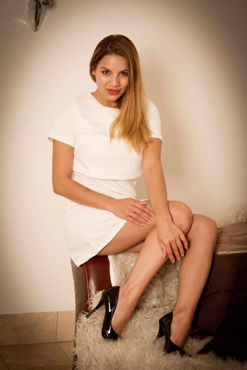 Lacey Banghard - White Dress 3
