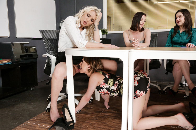 Girlsway - Kenzie Taylor Office Lesbian Sex 3