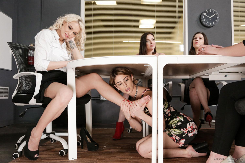 Girlsway - Kenzie Taylor Office Lesbian Sex 1