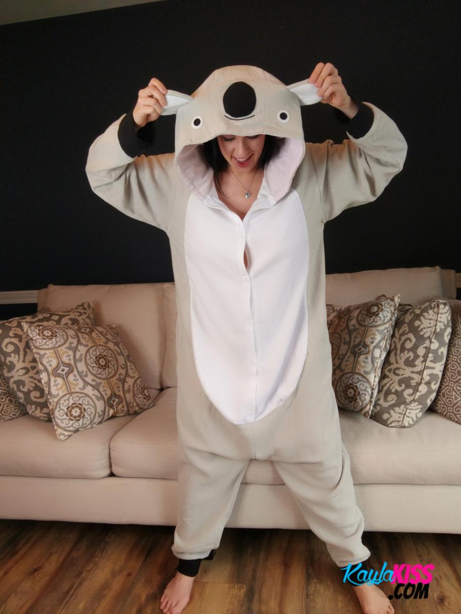 Kayla Kiss - Sexy Pajama Candids 1