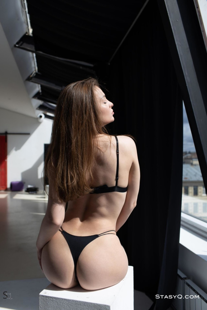 Melody Q in Black Lingerie 2