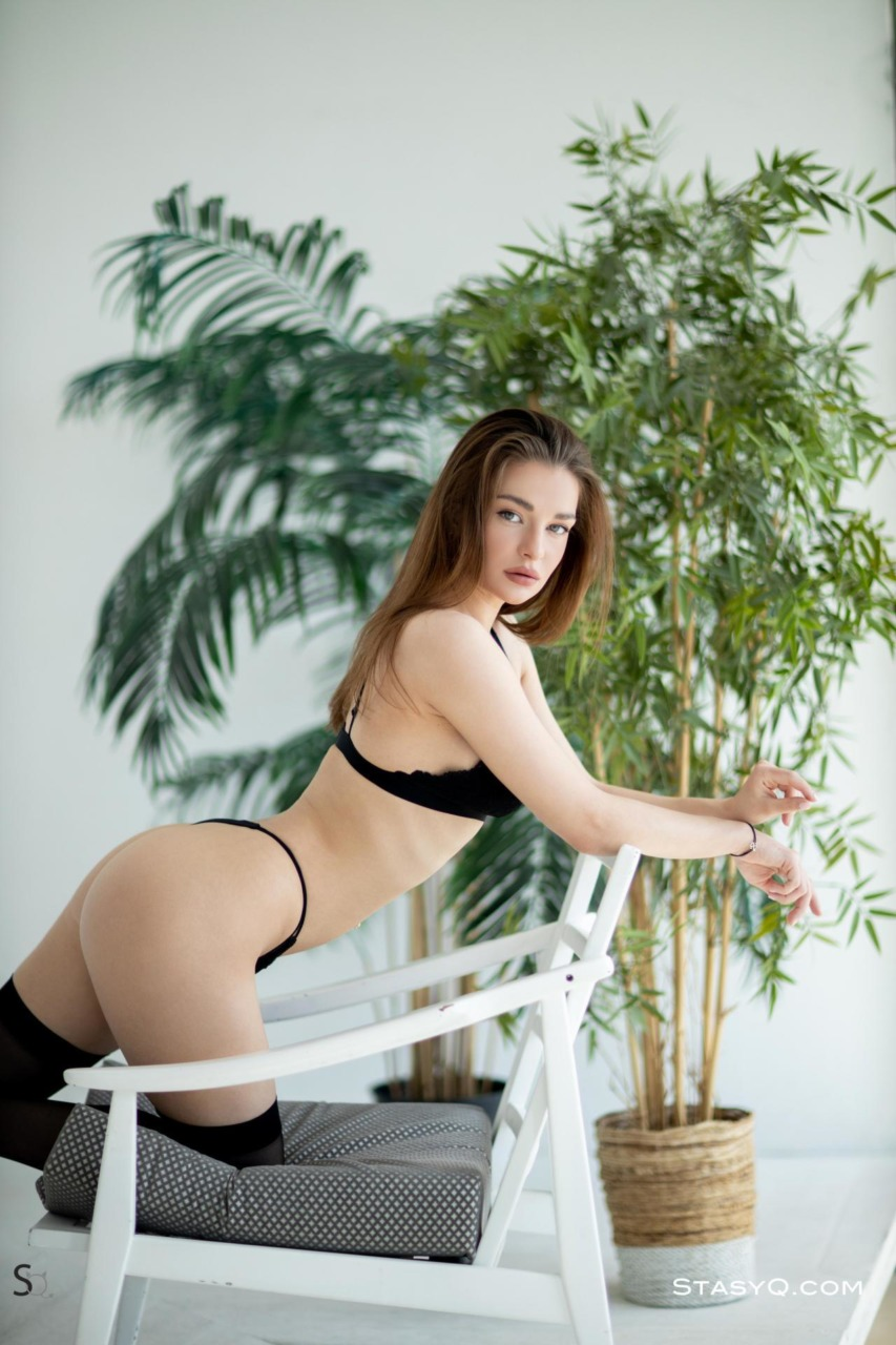 Melody Q in Black Lingerie 4