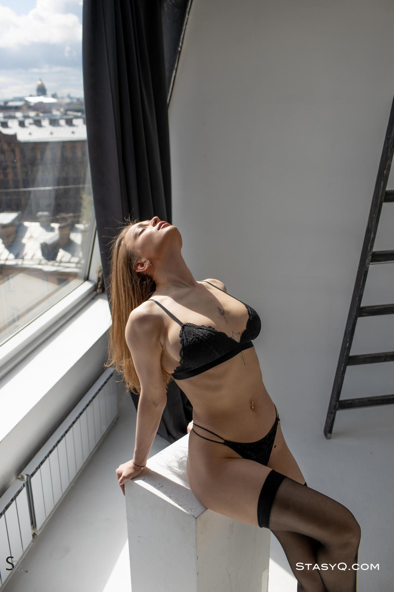 Melody Q in Black Lingerie 5