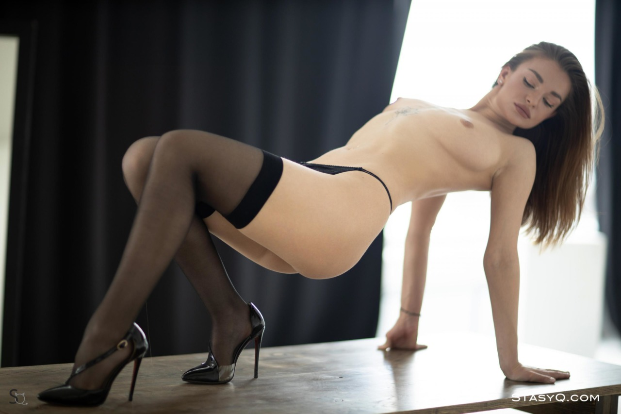 Melody Q in Black Lingerie 7